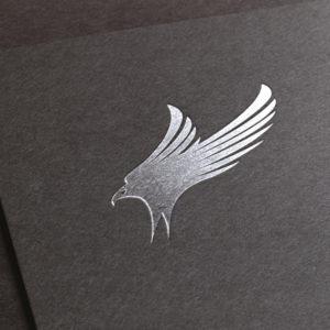Adler Logo in Silber